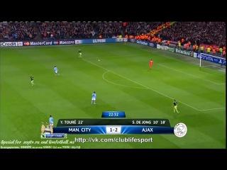 Манчестер Сити - Аякс (2-2). 22-я минута гол Яя Туре.